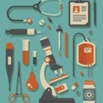 Graphic vector image of medical icons